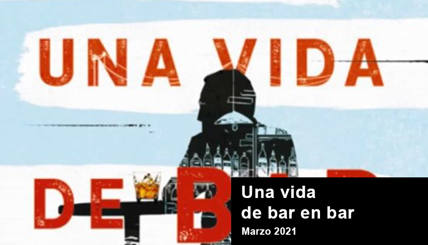 """Portada """"Una vida de bar en bar"""" de la novela de José Ángel Mañas"""